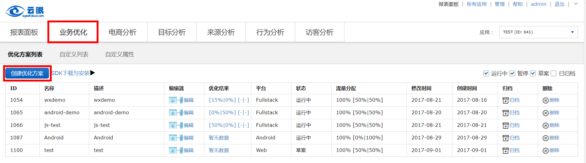 AB测试使用手册-WEB-创建优化方案
